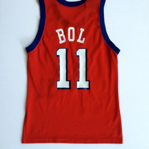 Vintage Manute Philadelphia Sixers 90's Throwback jersey original size 40