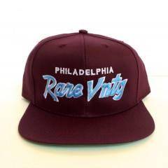 rare vntg philadelphia city series script snapback hat maroon