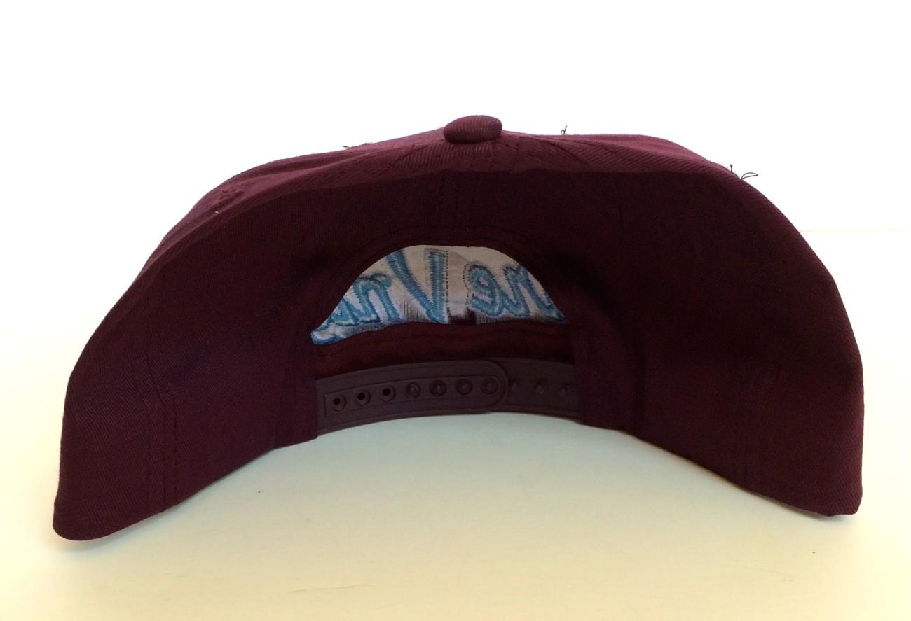 25070e43f7324 rare vntg philadelphia city series script snapback hat maroon. IMG 5520