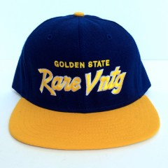 rare vntg golden state warriors script snapback hat