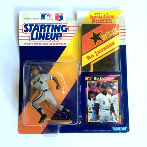 vintage 1992 bo jackson chicago white sox starting lineup toy
