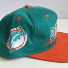 vintage 90's miami dolphins nfl snapback hat