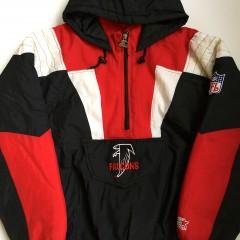 vintage atlanta falcons starter 90's pullover jacket