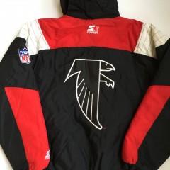 atl falcons starter pullover jacket