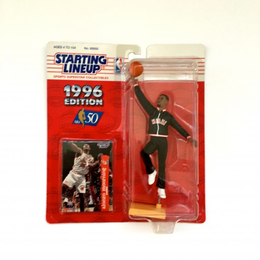 vintage alonzo mourning miami heat starting lineup toy figure