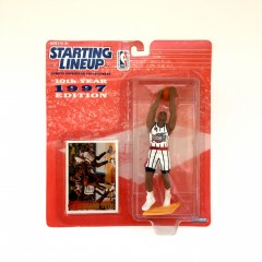 vintage 1997 houston rockets charles barkley starting lineup nba toy figure