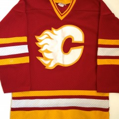 vintage Calgary flames 1980's red hockey jersey large