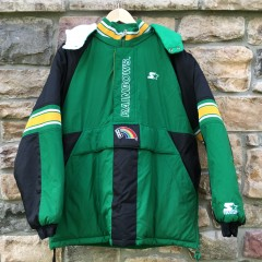 vintage starter university of Hawaii 90's jacket rainbows rainbow warriors