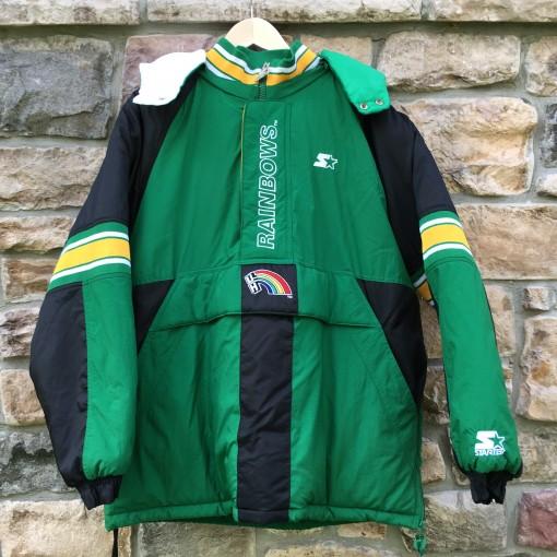 vintage starter university of Hawaii 90's jacket rainbows rainbow warriors