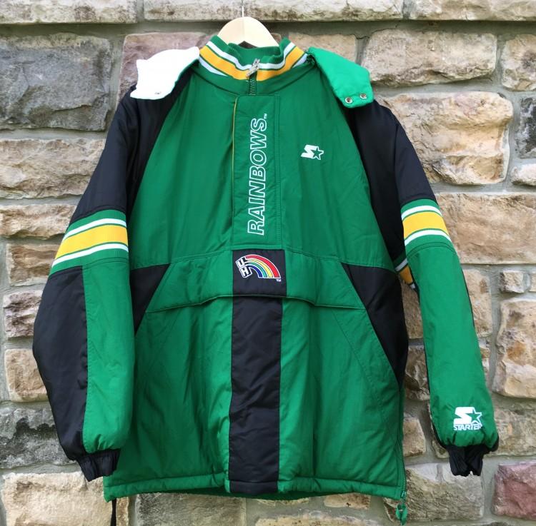 62566299c vintage starter university of Hawaii 90's jacket rainbows rainbow warriors