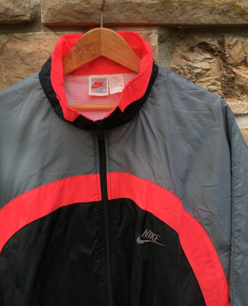 19612acfa6ac Vintage 90 s Nike Black Grey Infrared Windbreaker Jacket Size XL ...