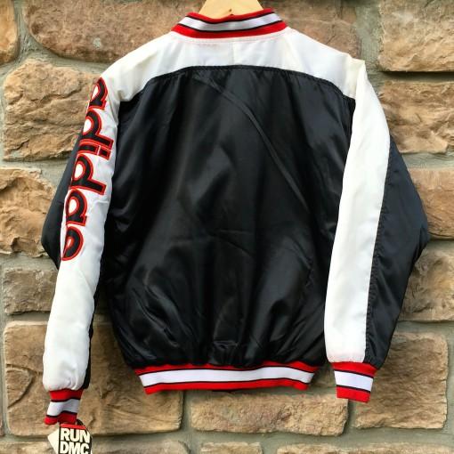 vintage adidas satin run dmc jacket 80's