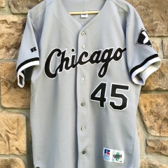 vintage michael jordan chicago white sox russell mlb jersey size 44