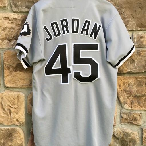 michael jordan Chicago white sox grey jersey