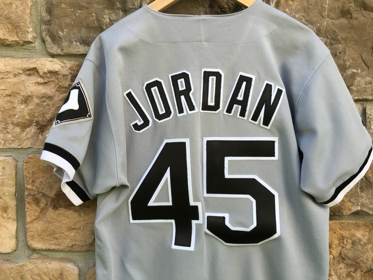 dd241676412 1994 Chicago White Sox Michael Jordan Authentic Russell MLB Grey ...