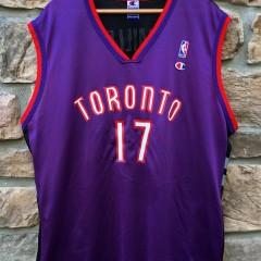 vintage Toronto Raptors Master P #17 Champion NBA Jersey