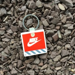classic 80's Nike Air Swoosh keychain orange
