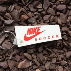 vintage 80's nike soccer keychain