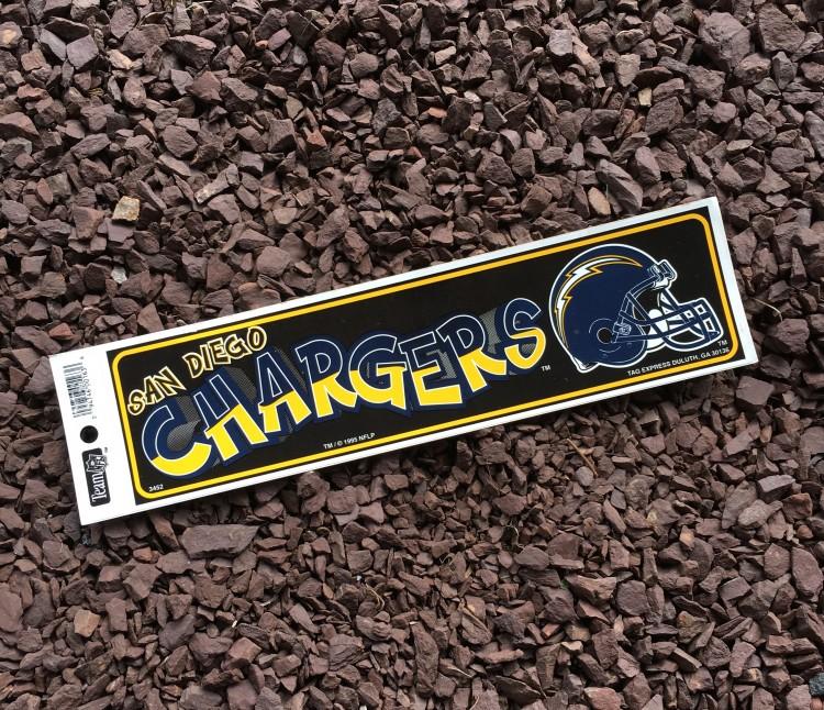 90 S San Diego Chargers Nfl Bumper Sticker Rare Vntg