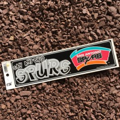 vintage San Antonio Spurs NBA Bumper Sticker