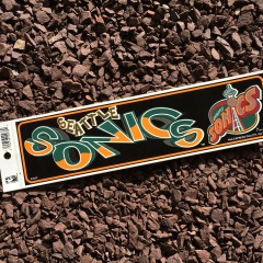 vintage Seattle super sonics NBA bumper sticker