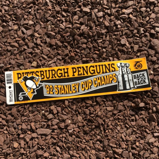 vintage Pittsburgh Penguins 1992 stanley cup champions bumper sticker