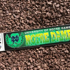 vintage notre dame fighting irish ncaa bumper sticker