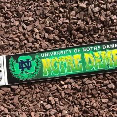 vintage notre dame fighting irish ncaa bumper sticker