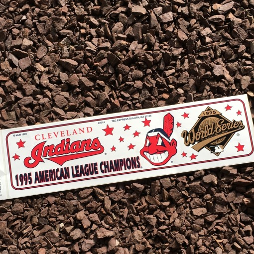 vintage cleveland indians world series sticker