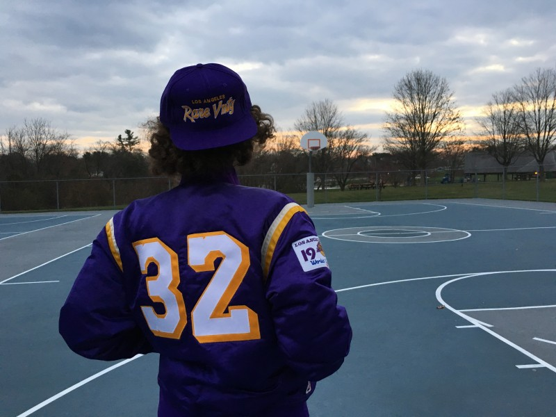 Rare Vntg Los Angeles Lakers Custom Magic johnson satin jacket