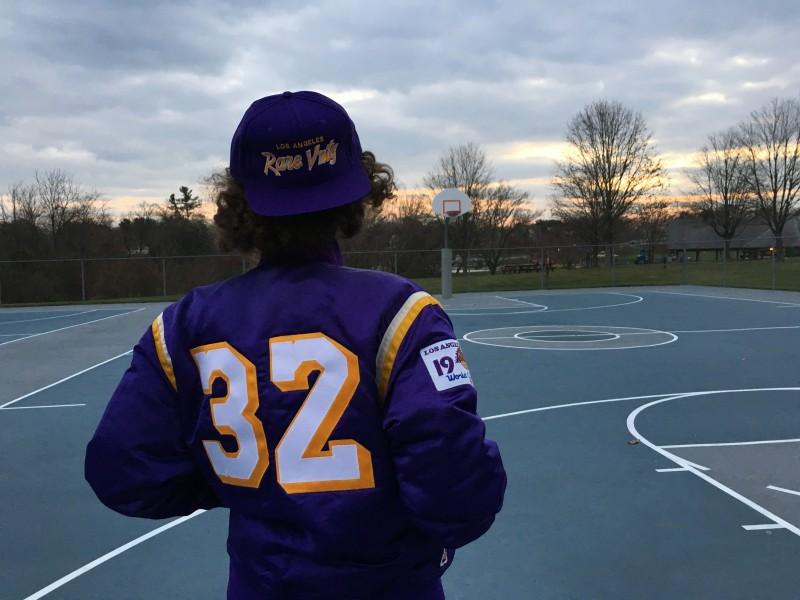 Rare Vntg Los Angeles Lakers Custom Magic johnson satin jacket