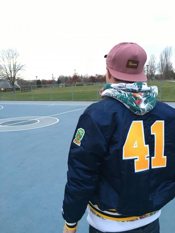Rare Vntg Glenn Rice Satin custom michigan jacket