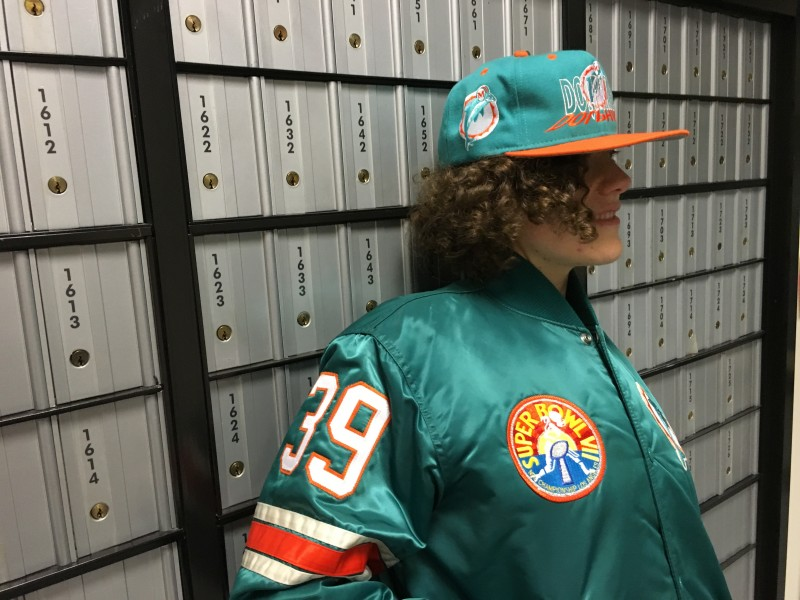 Rare Vntg Miami Dolphins Snapback & Custom Starter Jacket