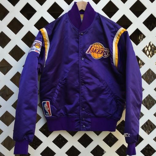Vintage los angeles lakers custom satin magic johnson starter jacket