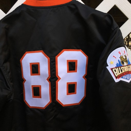 Eric Lindros Philadelphia Flyers custom starter satin jacket