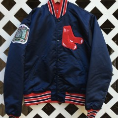 vintage boston red sox custom starter satin jacket pedro martinez