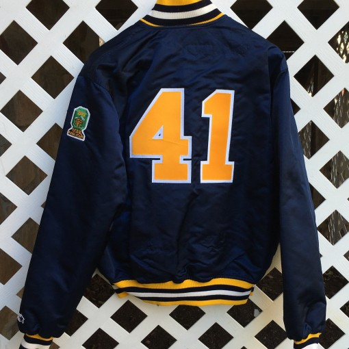 vintage glenn rice custom starter satin jacket