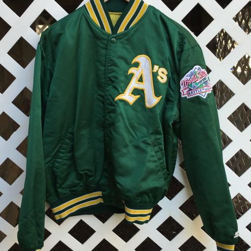 Custom Oakland A's Starter Rickey Henderson Custom jacket
