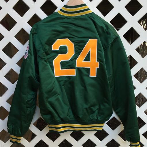 vintage Rickey Henderson oakland A's custom starter satin jacket