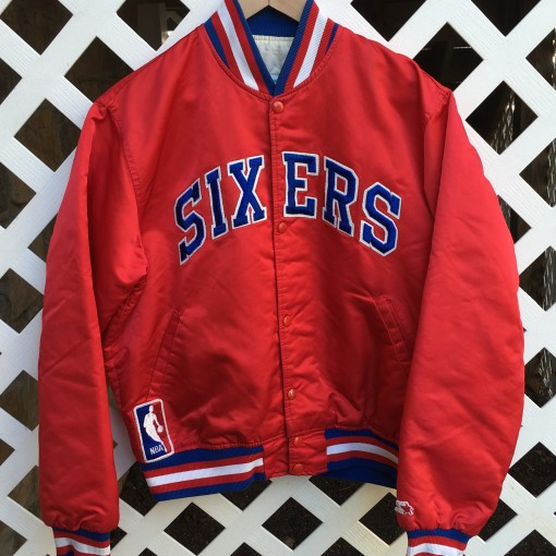 Vinage starter philadelphia sixers Dr. J satin custom jacket