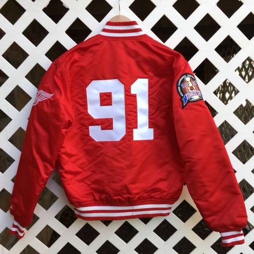 custom rare vntg sergei fedorov Detroit Red wings starter satin jacket