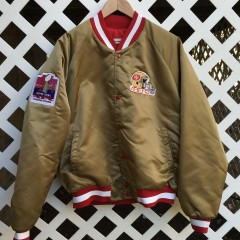 Joe Montana Super Bowl XIX chalkline custom jacket