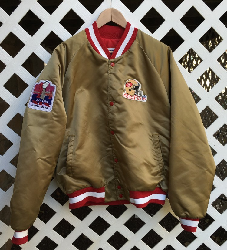 Joe Montana Super Bowl XIX chalkline custom jacket. custom joe Montana San  Francisco 49ers satin ... 8b5868ffb