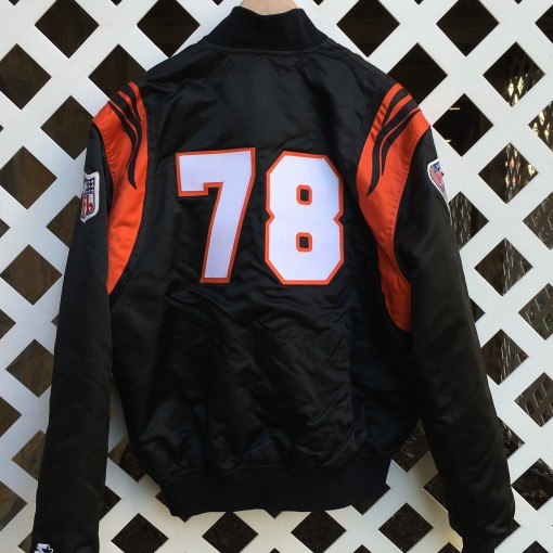anthony munoz Cincinnati bengals custom starter satin jacket