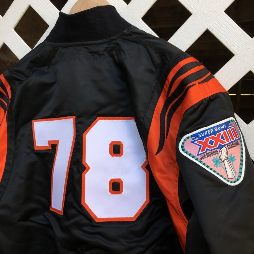 Custom Cincinnati bengals starter satin jacket