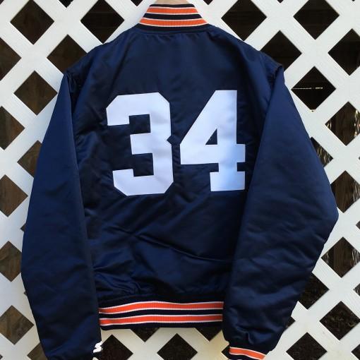 Bo Jackson Auburn satin jacket