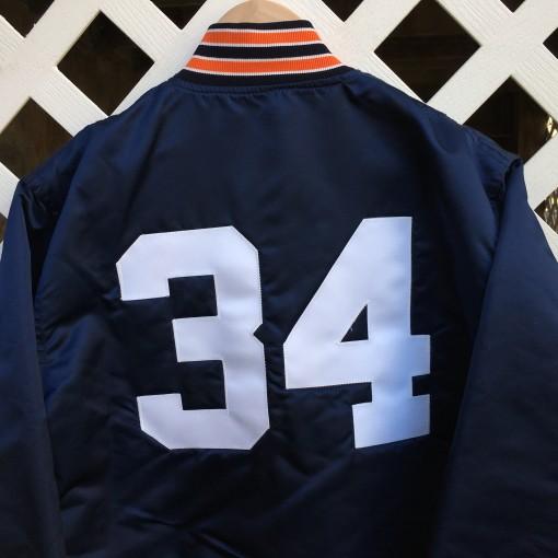 Bo Jackson Custom Auburn satin starter jacket