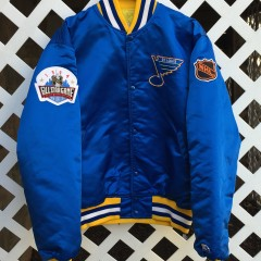 St Louis Blues custom rare vntg starter satin jacket
