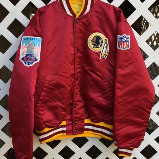 Super Bowl XXII Washington Redskins Starter Satin jacket size large