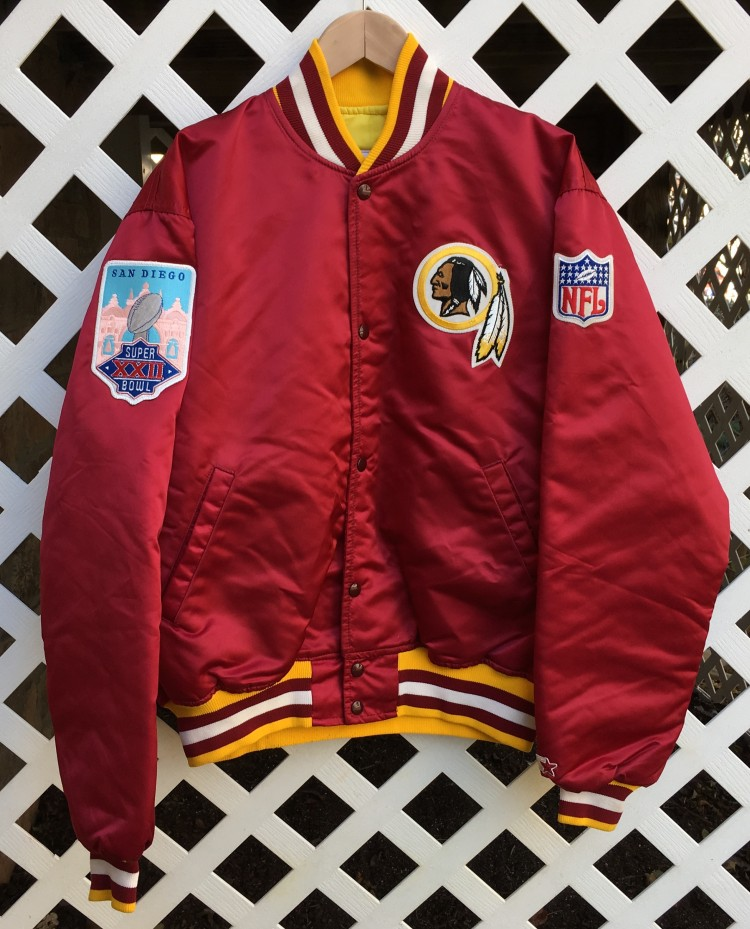 "wholesale dealer 0a733 23403 1988 Washington Redskins ""MVP"" Super Bowl Custom Satin Jacket"